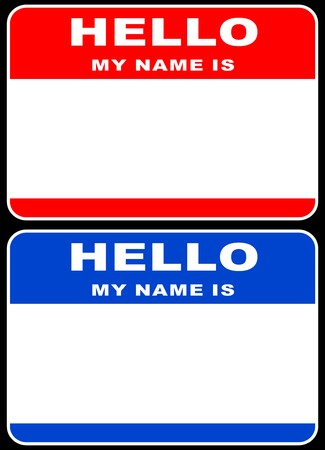 Hello my name is card Stock Vector - 5469031