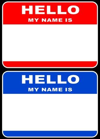 hi: Hello my name is card  Illustration