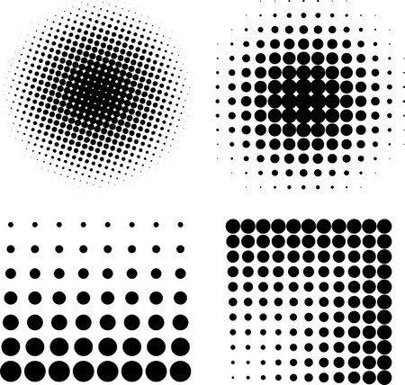 Halftone elements  Vector