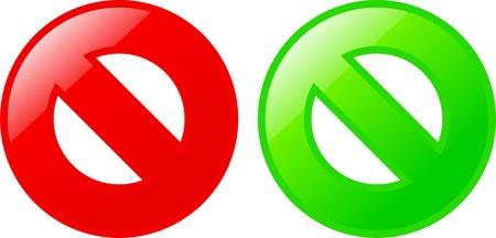 Yes/no symbols Stock Vector - 5469064