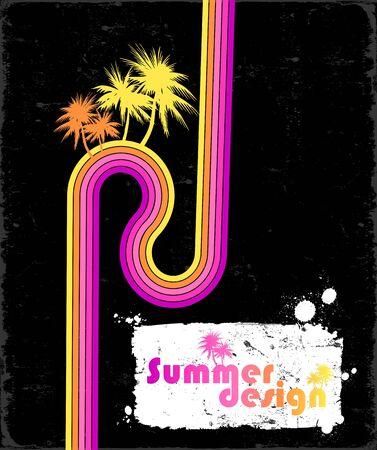 Grunge summer design  Vector