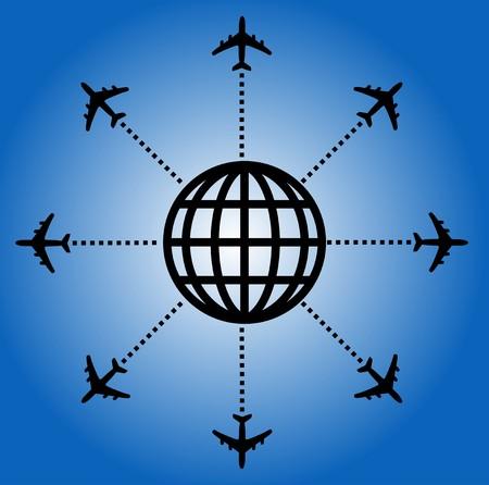 Airplane design Stock Vector - 5469076