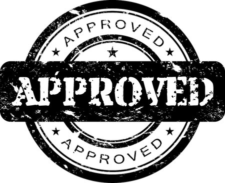 approved stamp: Timbro approvato  Vettoriali