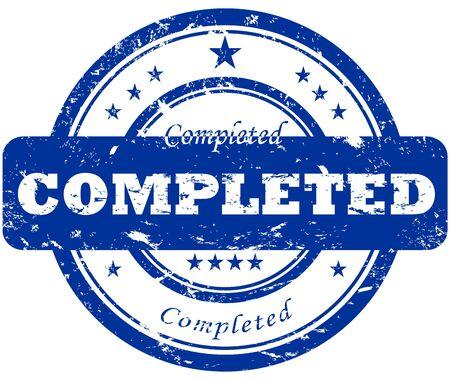 qualify: Completed stamp  Illustration