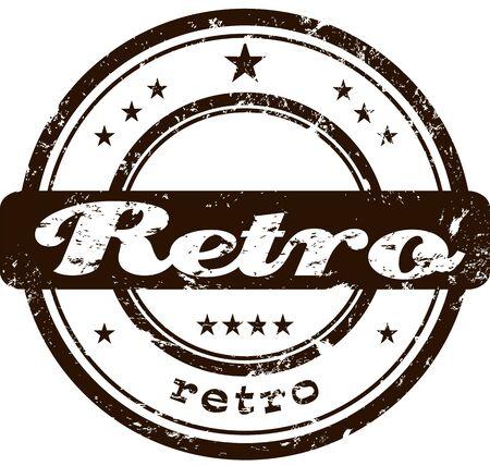 Retro stamp  Illustration