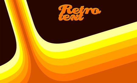 Retro template  Illustration
