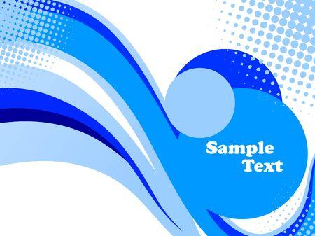 Stylish blue flyer Stock Vector - 5524075