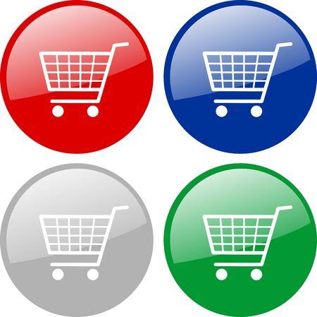 Shopping cart icons Stock Vector - 5524068