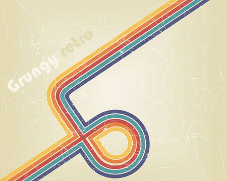 Retro abstract design Illustration