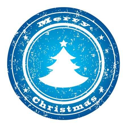 Winter stamp Stock Vector - 5843240