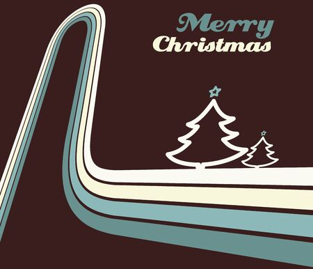 entertainment graphics: Retro christmas greeting card