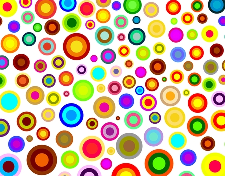 rounds: Rainbow rounds background