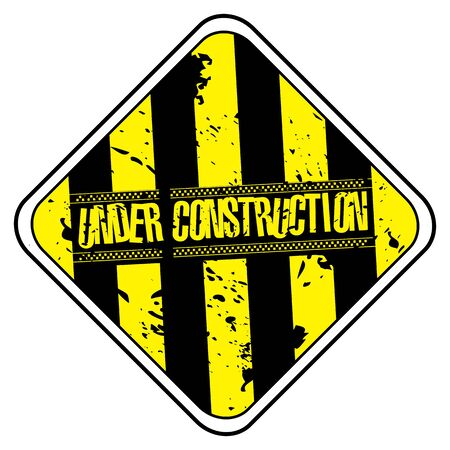 Construction sign background Stock Vector - 5937362