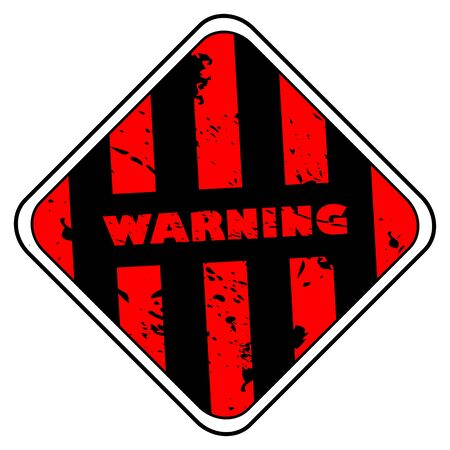 Warning sign background  Stock Vector - 5938312