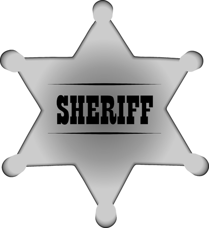 Sheriff badge Illustration