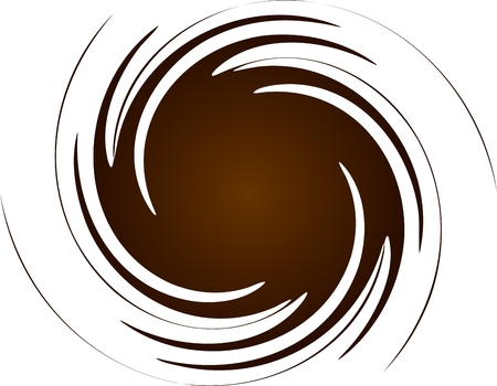 Brown spiral Stock Vector - 6747415