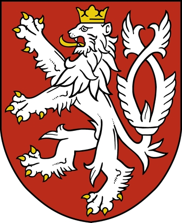 czech republic: Small coat of arms of the Czech Republic Illustration