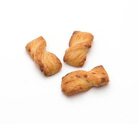 gressins: crispy breadsticks isolated on a white background