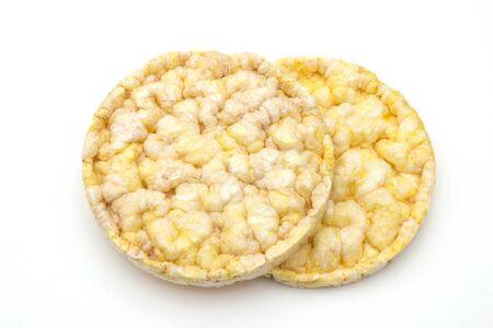 organik rice waffles isolated on white background