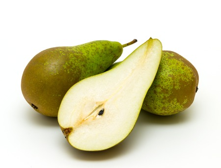 appetizing: Ripe appetizing pears isolated Stock Photo