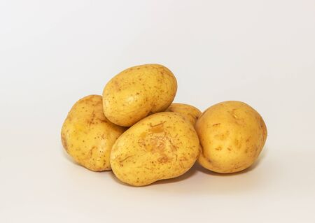 fresh potatoes isolated