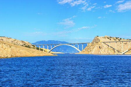 The bridge to the island of Krk Stock Photo