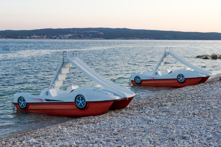 Pedal-boats with water slides