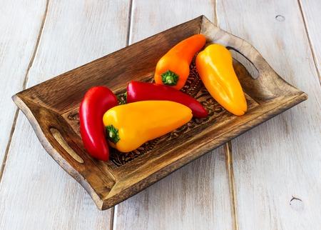 Fresh sweet organic peppers