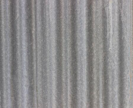 old weathered corrugated zinc texture Stock Photo