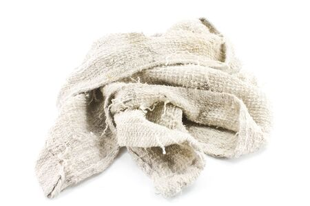 Handtuch auf einem wei�en Hintergrund