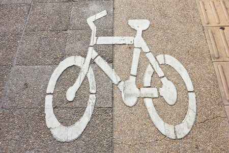 symbol on Bike lane photo