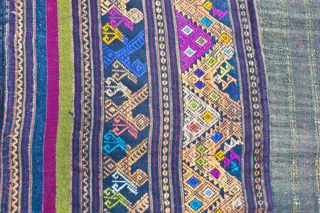 Thai pattern fabric photo