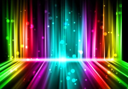 lumieres: feux abstrait color�