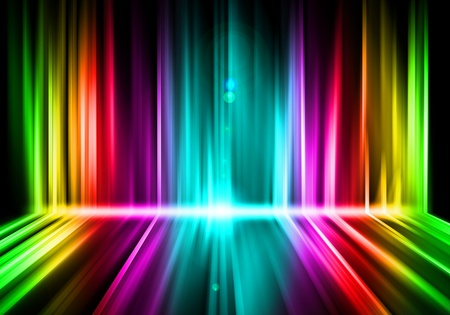 rainbow: luzes abstratas fundo colorido