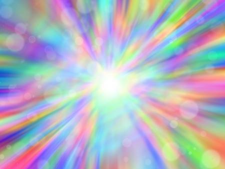 rainbow circle: Abstract lights bokeh background
