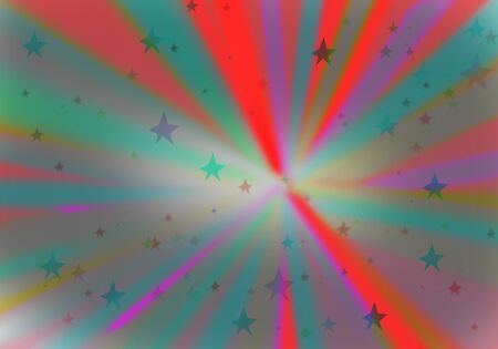 colorful lines background with star photo