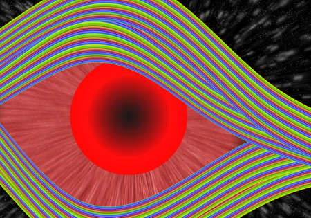 colorful eye with abstract  background photo
