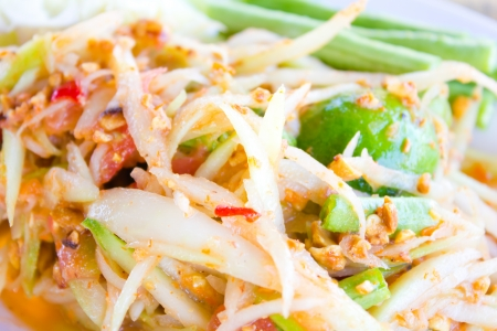 Green papaya salad thai cuisine Stock Photo - 20342152