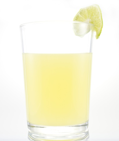 lemonade glass on white background
