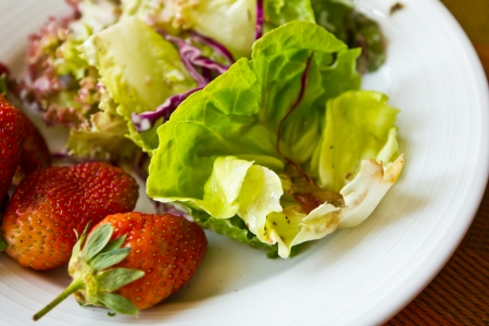 fresh salad in white plate Stock Photo