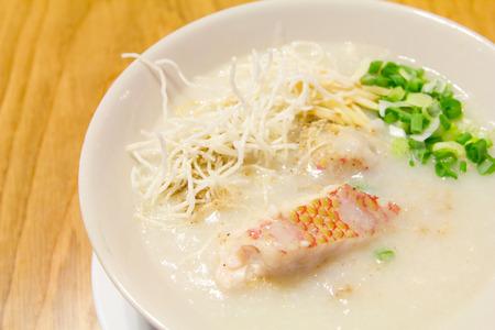 Reisschleim Fisch, Reisbrei chinesisches Essen Lizenzfreie Bilder