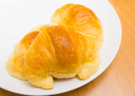 croissants on a white plate photo
