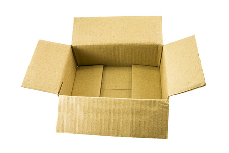 carton box on white background photo