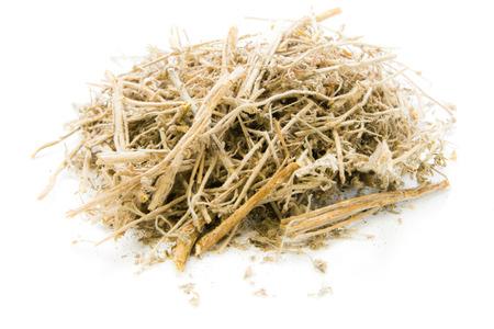 Dried Herbs,Artemisia annua L. on white background