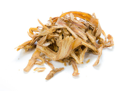 angelica sinensis,dang gui on white background Banque d'images