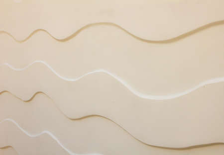creme: stone wave texture wall background Stock Photo