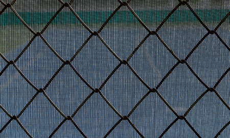 chain link fence: chain link fence with background