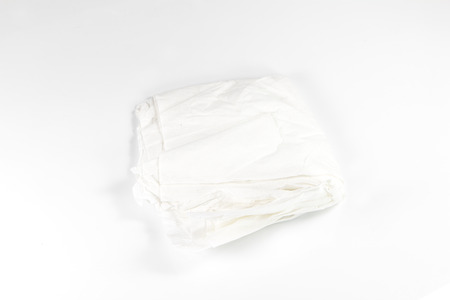 crumpled tissue: crumpled tissue paper on white background Stock Photo