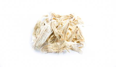 Pueraria mirifica,White Kwao Krua,Pueraria candollei Graham ex Benth. var mirifica  on white background Banque d'images
