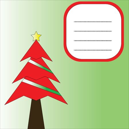 christmas tree with background Illustration